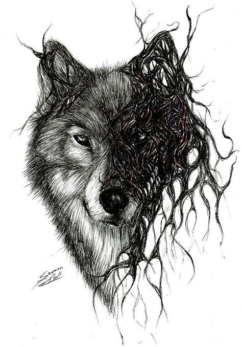 wolf tattoo sleeve ideas  pinterest forest