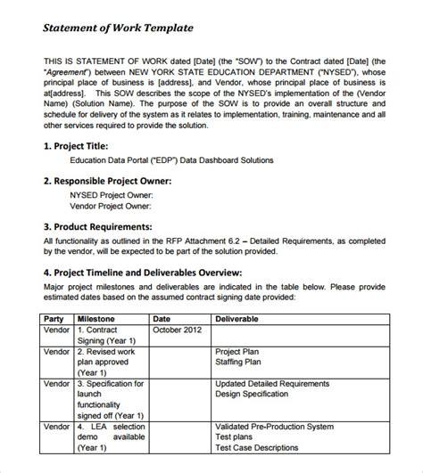 statement  work samples  google docs ms