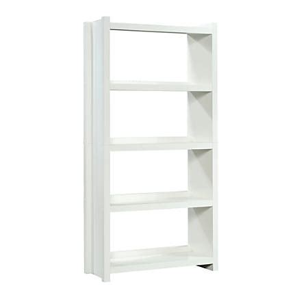 Sauder Bookcase White by Sauder Homeplus Bookcase 4 Shelf White Office Depot