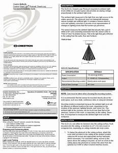Closed-loop Photocell Light Sensor Gls-lcl Manuals