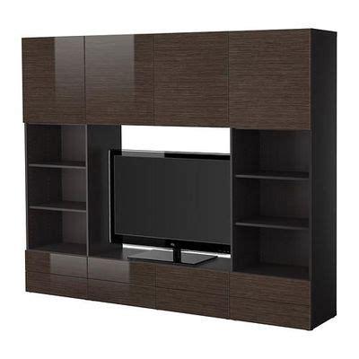 besta ikea review best 197 tv cabinet combination black brown bamboo pattern