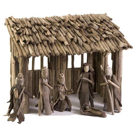 imax woodland driftwood nativity set  hayneedle