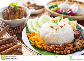 hawker cuisine malaysia food nasi lemak stock image image 31985611