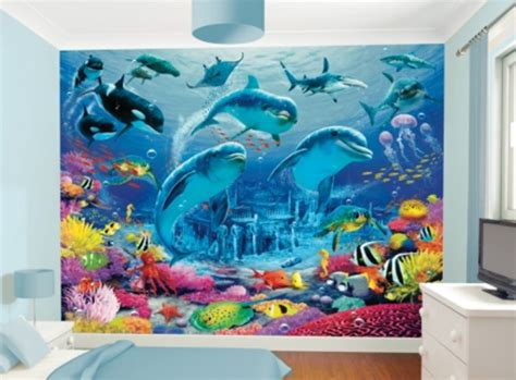 Under The Sea Themed Childrens Bedroom Wall Mural