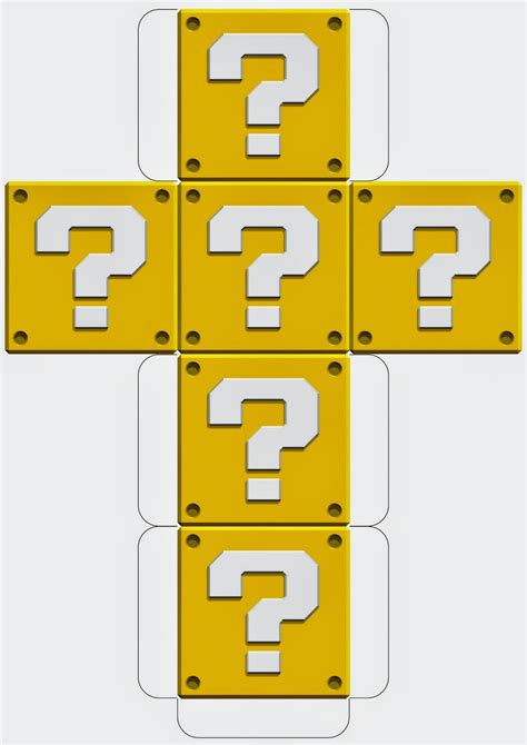 Mario Question Block L Uk by Mario Downloadable Question Block Template