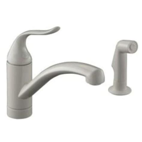 kohler coralais kitchen faucet biscuit kohler coralais decorator 2 1 handle low arc kitchen