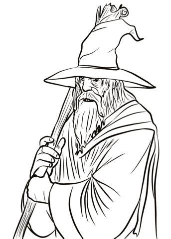 gandalf coloring page  printable coloring pages