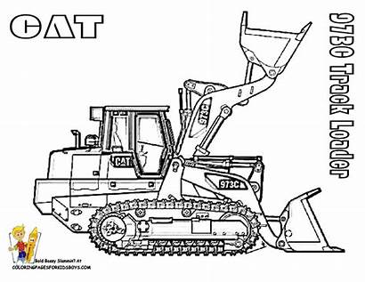 Coloring Pages Construction Loader Caterpillar Cat Track
