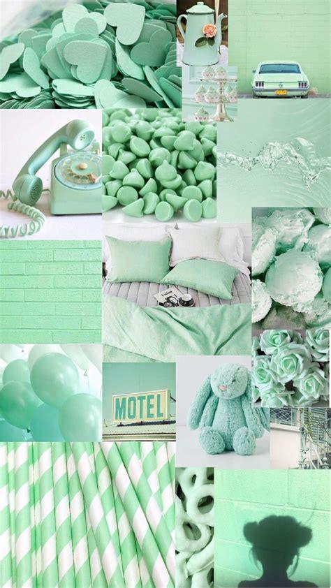 aesthetic light green wallpapers