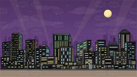 Superhero Cityscape Backdrop