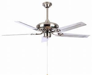 Modern white blade ceiling fan light quot for living room