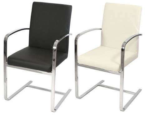 Febland   Sprung Steel Dining Chairs   Chrome Frame Carver