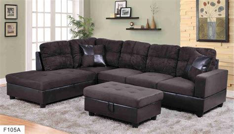 hton leather reversible sectional and storage ottoman f105a brown microfiber faux leather sectional set with