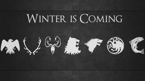 game  thrones sigils winter  coming wallpapers hd