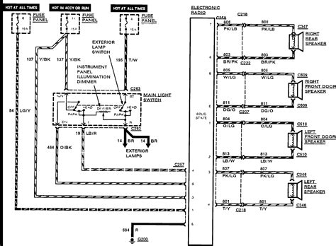 2003 Contour Wiring Diagram by 2000 Ford Contour Radio Wiring Diagram Wellread Me