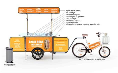 days    vegan hotdog bike cart