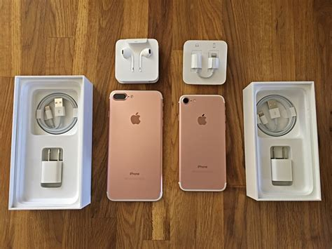iphone 7 unboxing iphone 7 and iphone 7 plus unboxing comparison photos