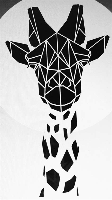 geo giraffe plywood   geometric giraffe tattoo