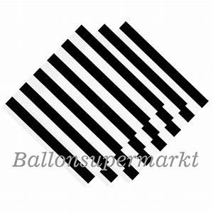 Schwarz Weiß Dekoration : ballonsupermarkt party servietten black ~ Sanjose-hotels-ca.com Haus und Dekorationen