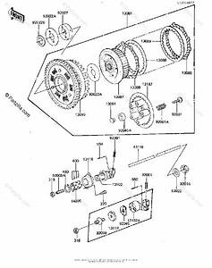 Kawasaki Motorcycle 1981 Oem Parts Diagram For Clutch
