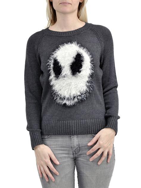 nightmare before sweater nightmare before fuzzy skellington knit