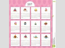 Cartoon Calendar 2017 Printable Calendar 2018 Printable