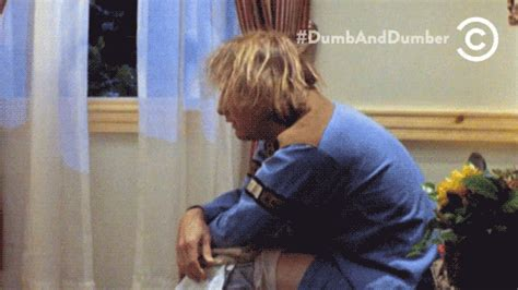 Dumb And Dumber Bathroom Gif by Dumb And Dumber Sudden Realization Gif Find On Giphy