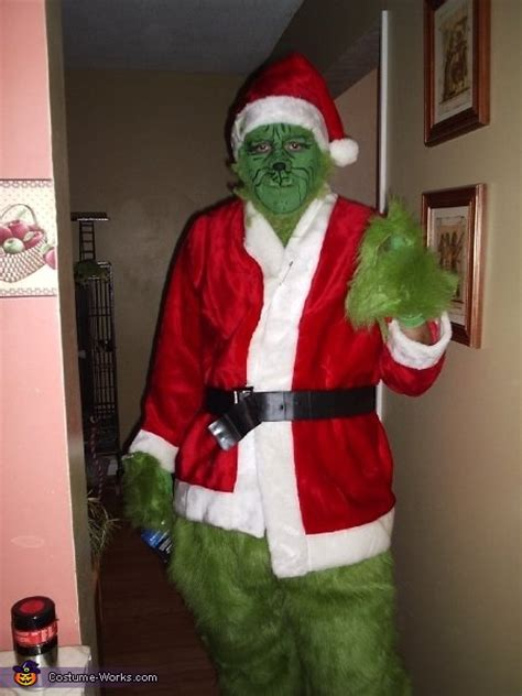 homemade grinch adult costume