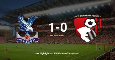 Tue 03 Dec 2019: Crystal Palace vs AFC Bournemouth ...