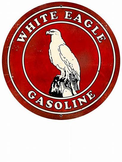 Signs Gasoline Gas Oil Eagle Retro Metal