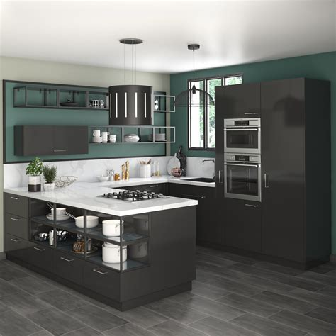 delinia sevilla black designer kitchen  leroy merlin