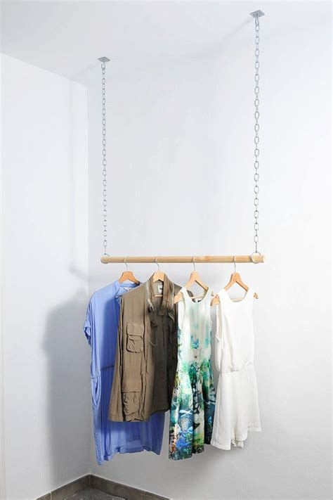 Wardrobe For Hanging Clothes by Wooden Floating Hanging Clothes Rack Aveleredesign Op