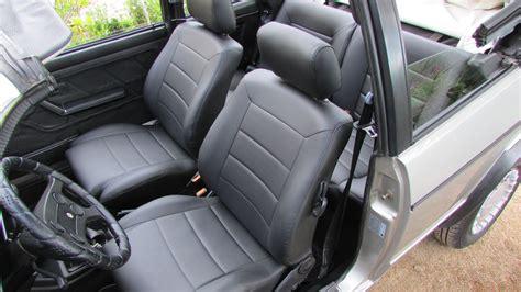 siege golf 1 golf cabriolet mk1 siége de cuir artificiel couvre en noir