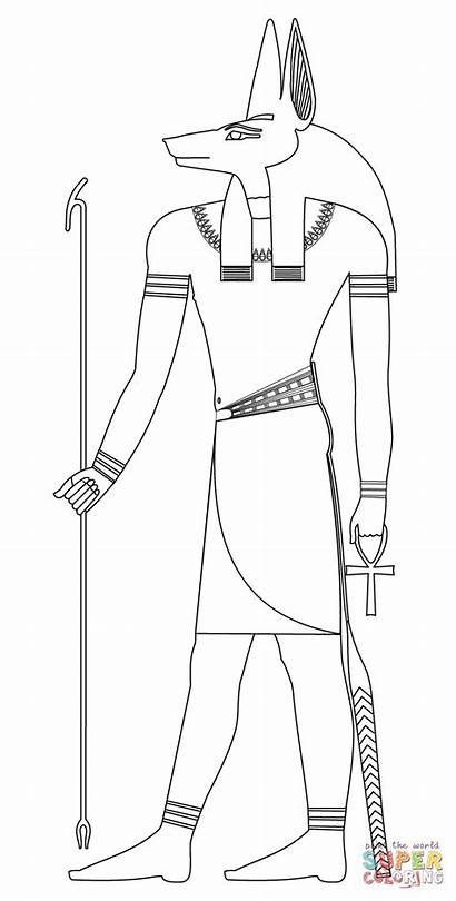 Anubis Coloring Egyptian Colorear Dibujo Egypt Dibujos