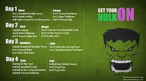 Hulk Bulking Routine  Basic 4 Day Split  For The Gym Geeks Out There