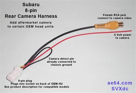 subaru  pin rear camera harness