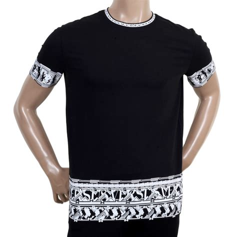 Print Sleeve Shirt buy black sleeve printed t shirt by versace