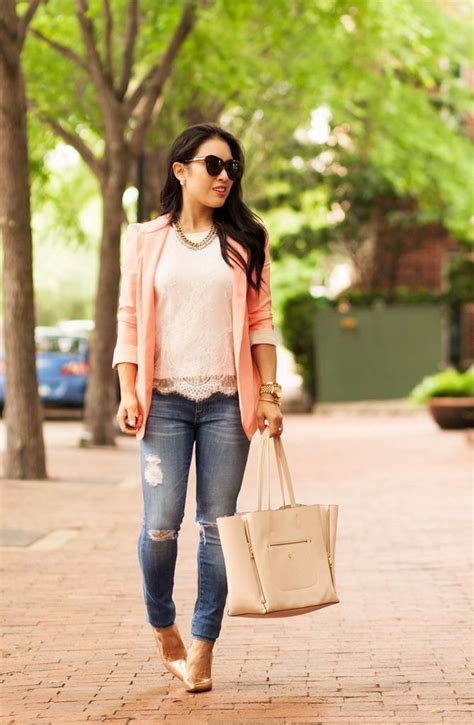 25+ Best Ideas about Peach Blazer on Pinterest | Peach pants Casual and Look do dia