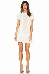 Red valentino Cable Knit Sweater Dress in White   Lyst