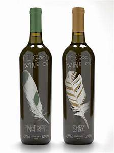 fancy feathered bottles good wine company bottle design With fancy wine bottle labels