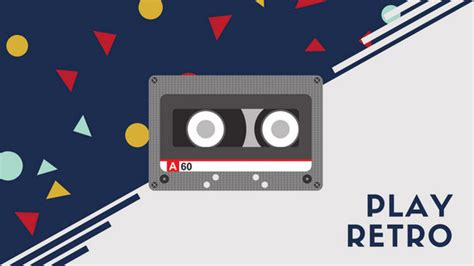 retro  cassette tape desktop wallpaper templates  canva