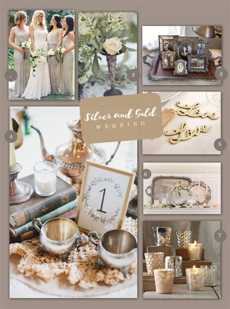 Vintage Silver and Gold Wedding Inspiration : My Wedding