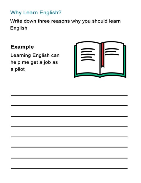 why learn english worksheet on the benefits of learning english all esl