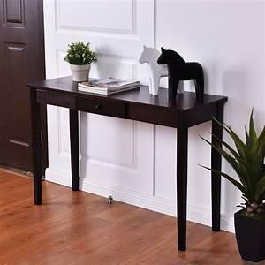 Modern, Dark, Walnut, Wood, Entryway, Console, Table