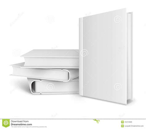 book template book template with blank cover and pile of books stock illustration image 41274320