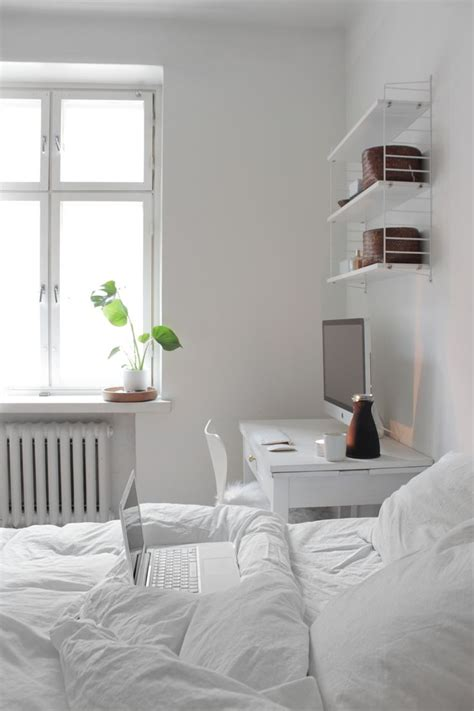 white bedroom design inspiration keep it all in white in the bedroom when theres no room for a desk elsewhere a interior design