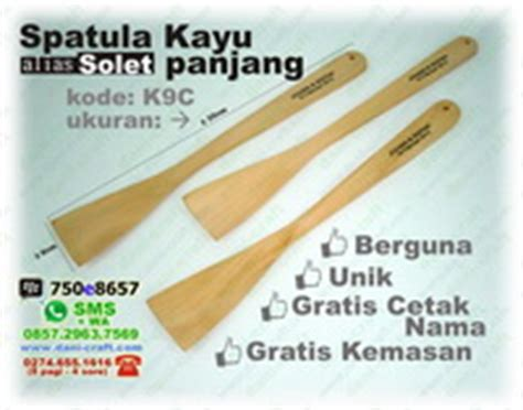 2pcs solet spatula plastik besar solet panjang berlubang spatula kayu souvenir pernikahan