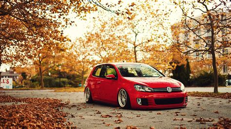 volkswagen stance fall golf gti golf vi wallpapers hd