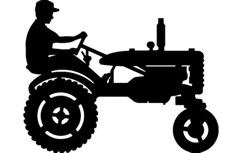 tractor silhouette  dxf file   axisco