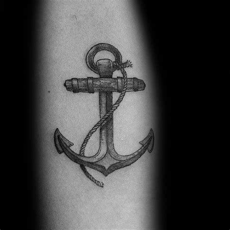 small anchor tattoo designs  men manly miniature